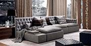 Капитониран диван с гъши пух Майн Ред 726