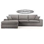 Ъглов диван с миеща се дамаска 729
