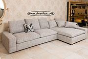 Ъглов диван с перяща се дамаска по поръчка 748