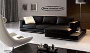 Ге-образен диван от кожа по поръчка 1097