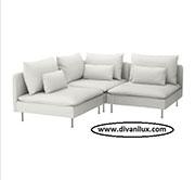Малък ъглов диван по поръчка 1092