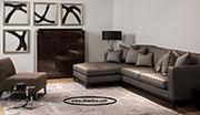 Ъглов диван с кожа по поръчка 810