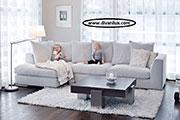 Ъглов диван с гъши пух по поръчка 814