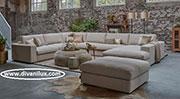 Пе-образен диван с табуретка по поръчка 822