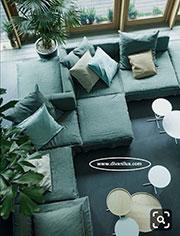 Модулен диван с мемори пяна по поръчка 836