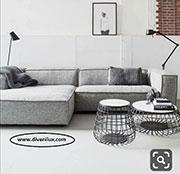 Ъглов диван с миеща дамаска по поръчка 837