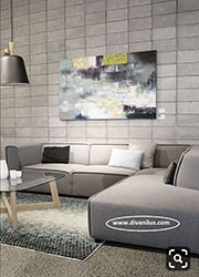 Ъглов диван с висококачествен дунапрен 838