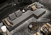 Ъглов диван с мемори пяна по поръчка 847