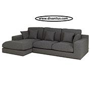 Голям ъглов диван с висококачествен дунапрен 1124