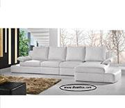 Кожен ъглов диван 1087