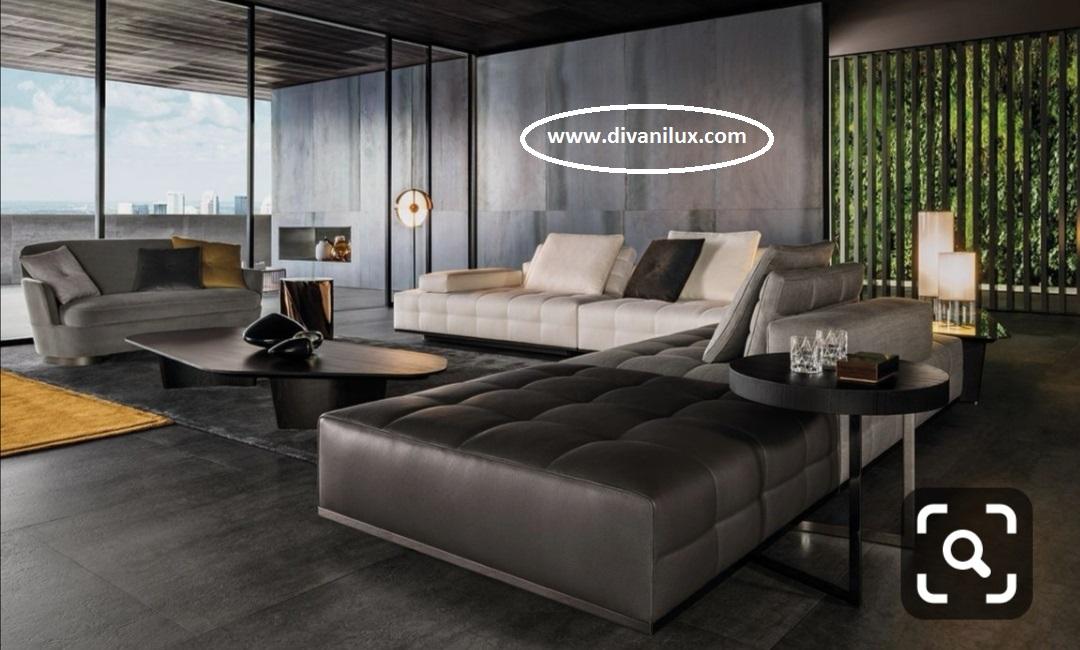 Луксозен капитониран диван с мемори пяна 856