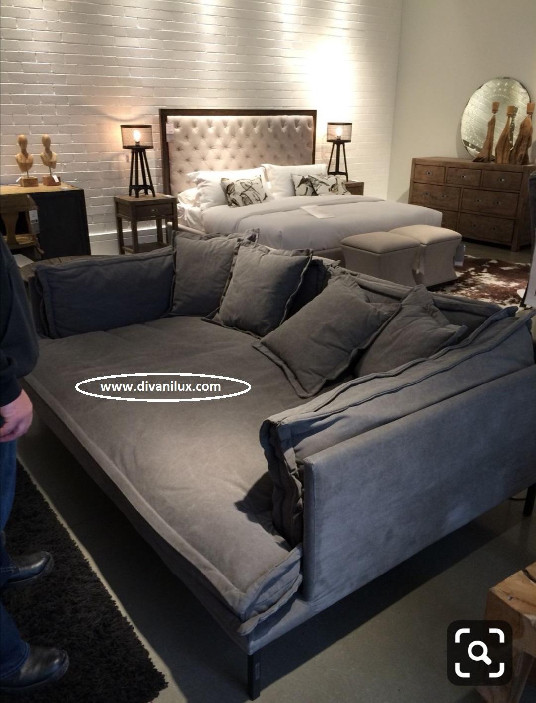 Луксозен диван с метална рамка по поръчка 859