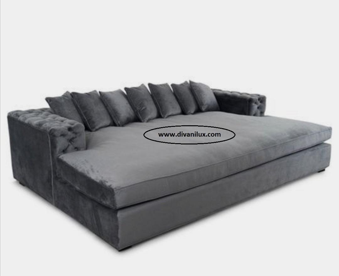Плюшен диван с функция сън по поръчка 860