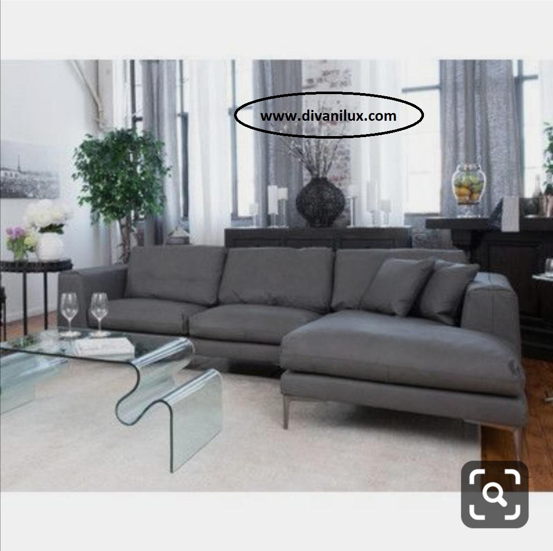 Ъглов диван с миеща дамаска по поръчка 861