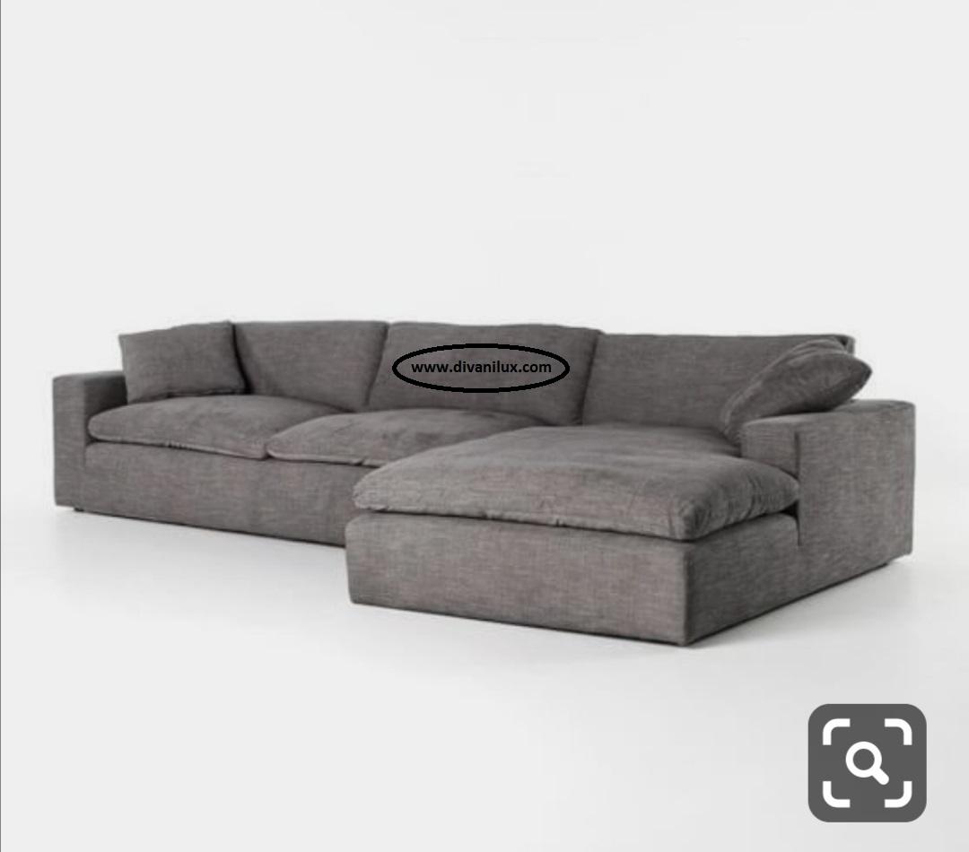 Ъглов диван с гъши пух по поръчка 865