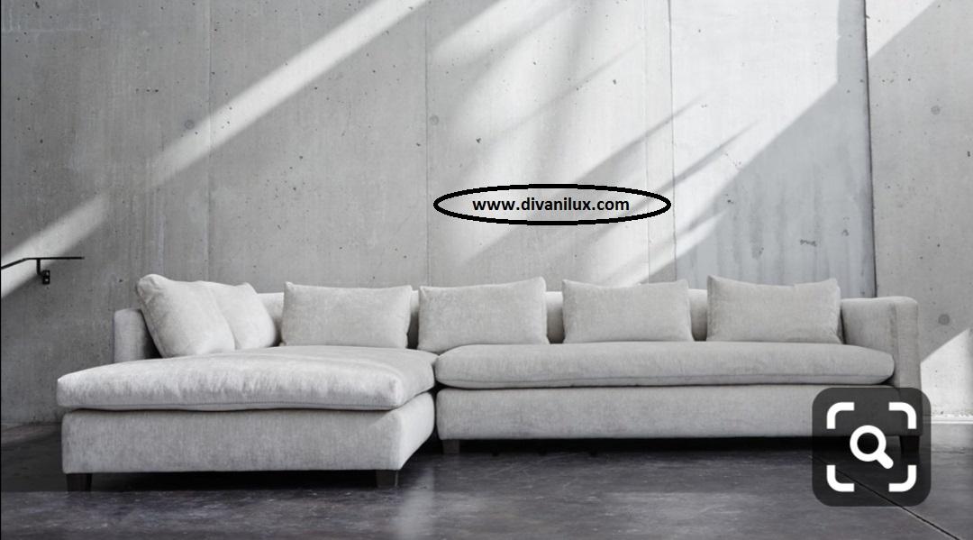 Ъглов диван с мемори пяна по поръчка 869