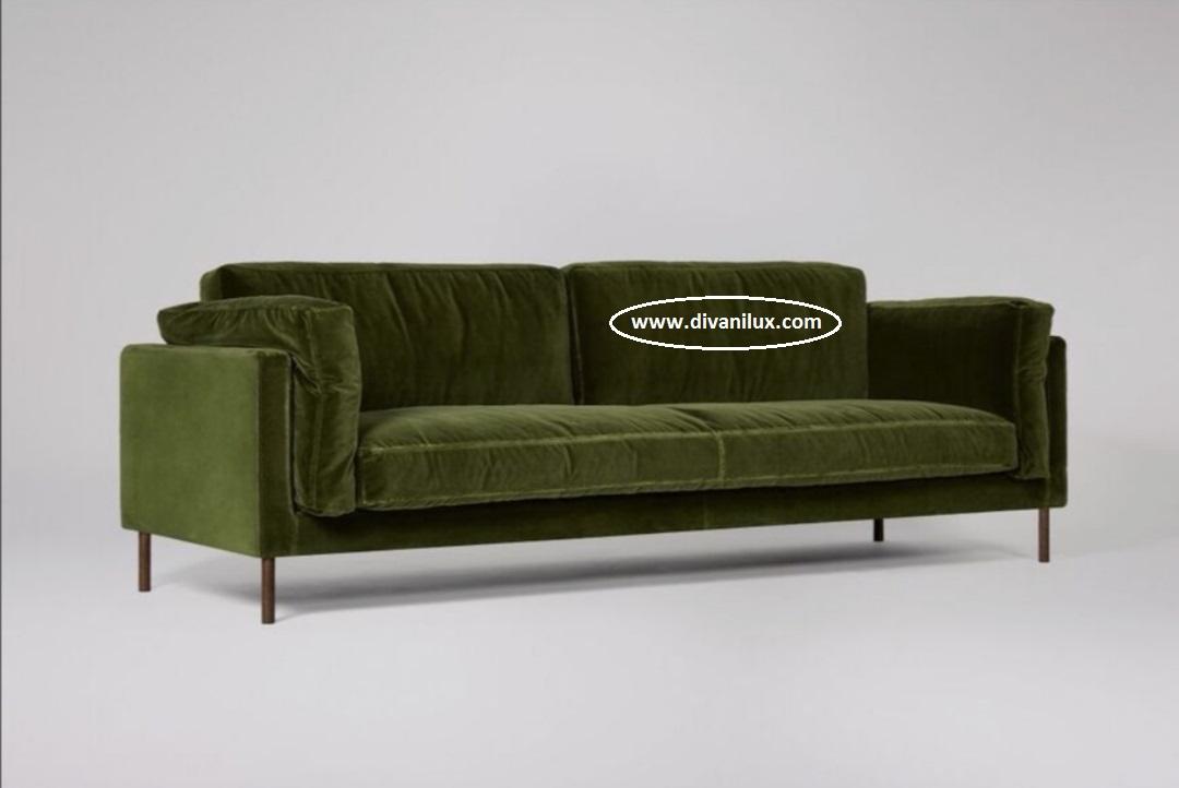 Плюшен диван с мемори пяна 870