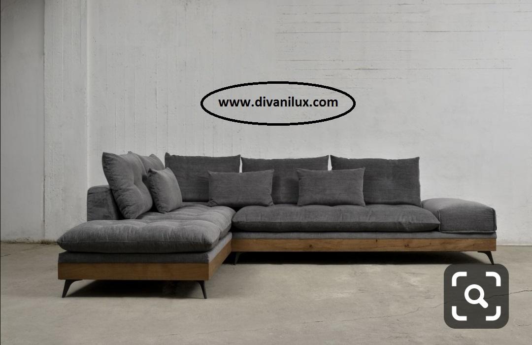 Ъглов диван с метална рамка и мемори пяна 874