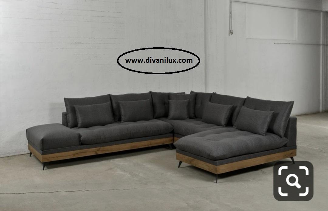 Пе-образен диван с метална рамка по поръчка 875