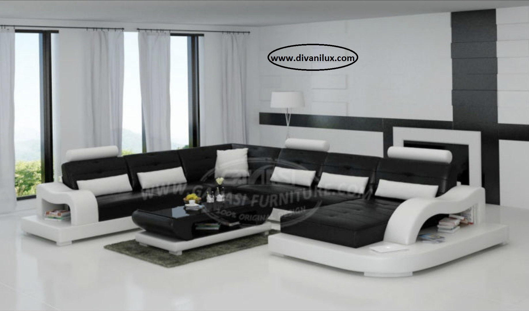 Луксозен пе-образен диван по поръчка 887