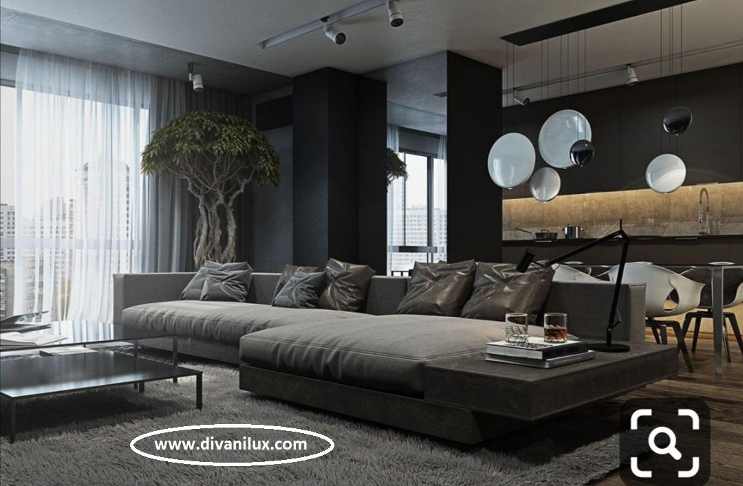 Луксозен ъглов диван с миеща дамаска 915