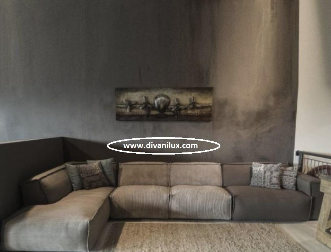 Модулен диван с гъши пух по поръчка 927