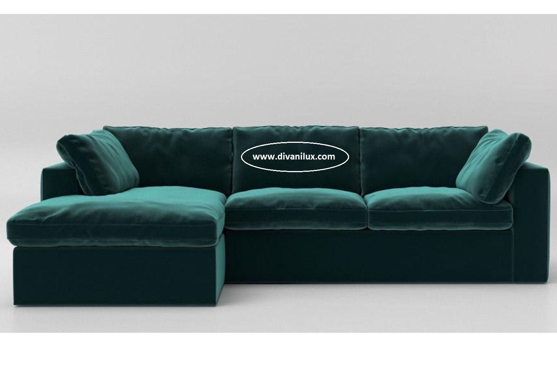 Ъглов плюшен диван по поръчка 942