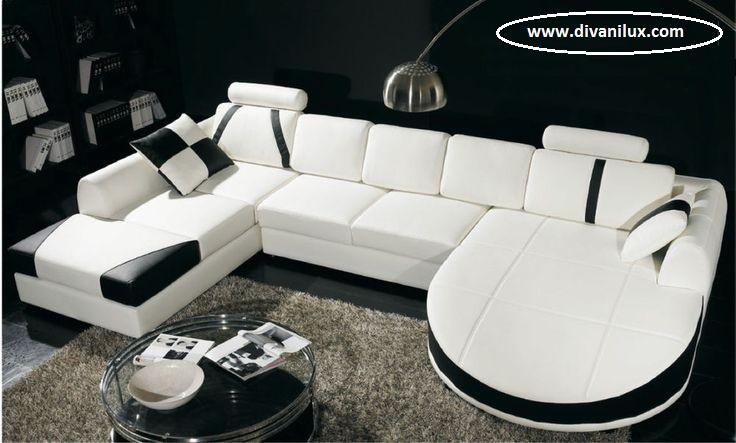 Кожен диван лукс по поръчка 951
