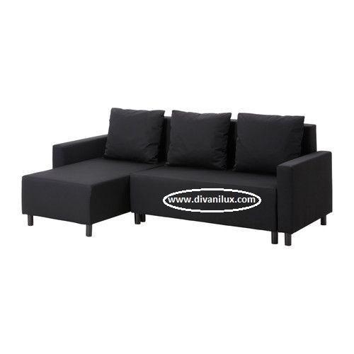 Ъглов диван в черно по поръчка 958