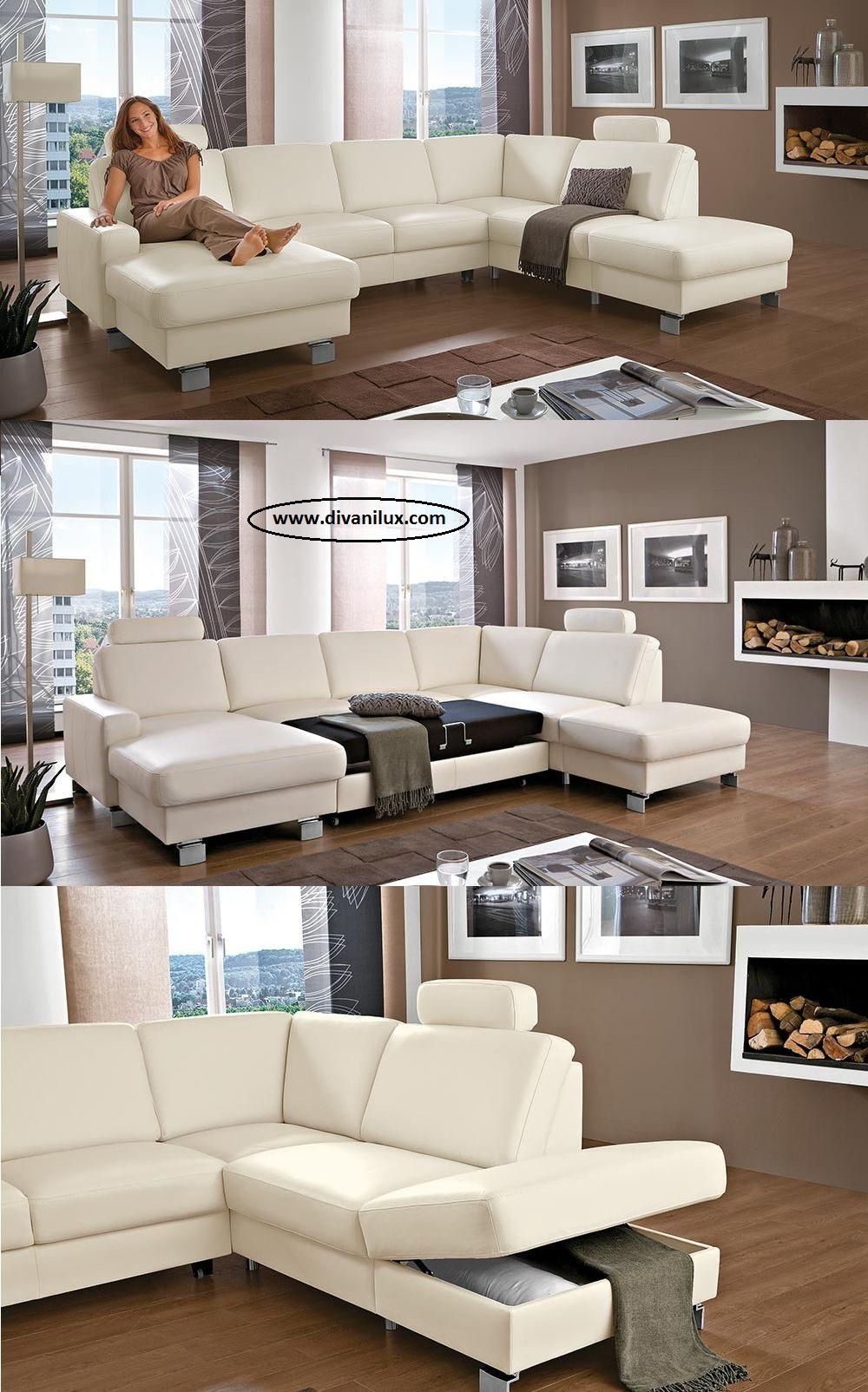 Пе-образен диван с миеща дамаска 974