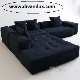 Ъглов диван с миеща дамаска по поръчка 979
