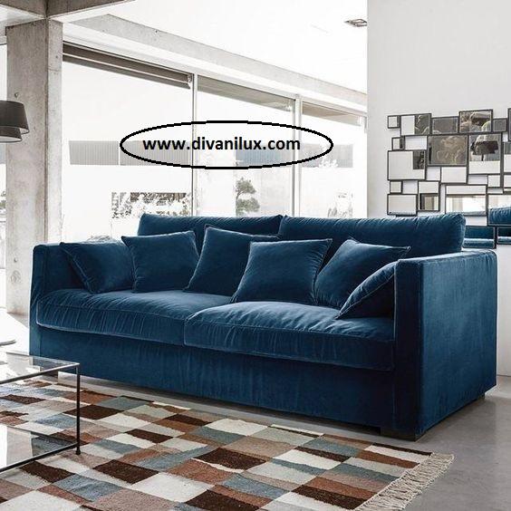 Прав диван с дамаска плюш по поръчка 981