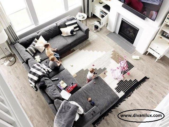 Пе-образен диван по поръчка 985