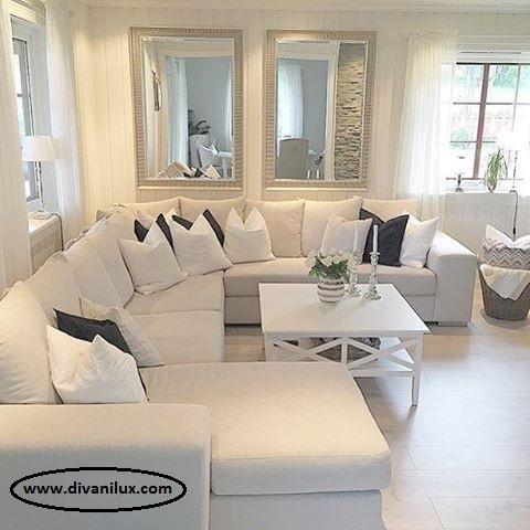 Пе-образен диван с миеща се дамаска 988