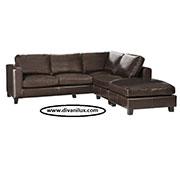 Ъглов кожен диван по поръчка 1072