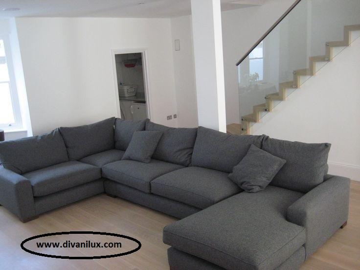 Пе-образен диван с гъши пух по поръчка 1007