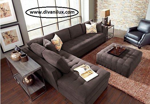 Луксозен ъглов диван по поръчка 1008