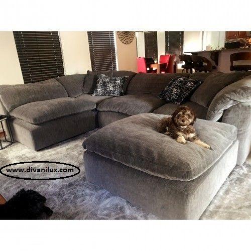 Плюшен диван с гъши пух по поръчка 1010