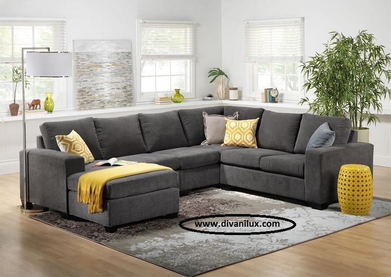 Пе-образен диван с мемори пяна 1016