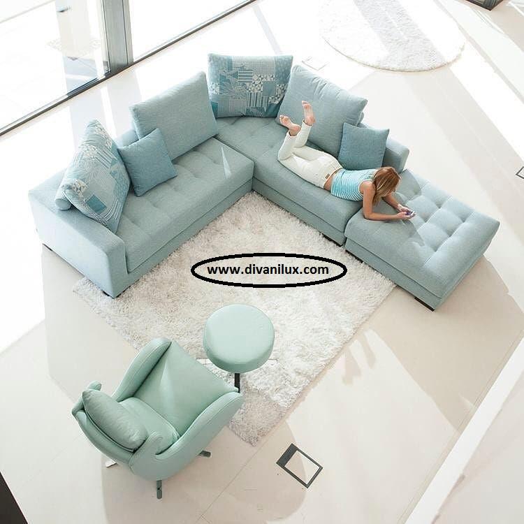 Луксозен ъглов диван по поръчка 1018