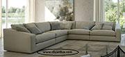 Ъглов диван в сиво с мемори пяна 1069