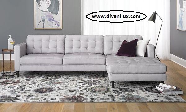Ъглов капитониран диван по поръчка 1026
