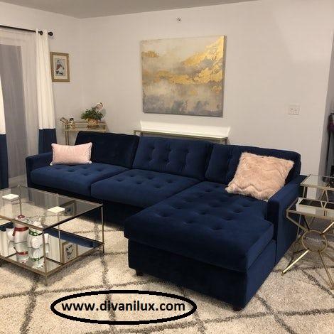 Луксозен ъглов диван по поръчка 1027