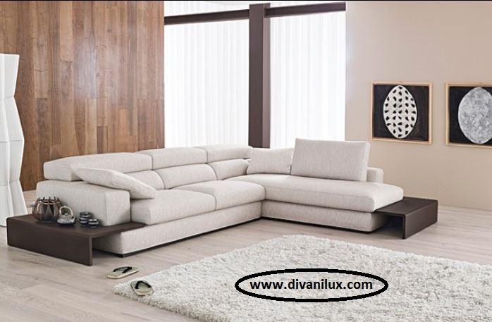 Луксозен ъглов диван по поръчка 1038