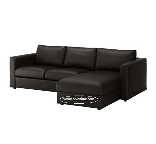 Ъглов кожен диван по поръчка 1039