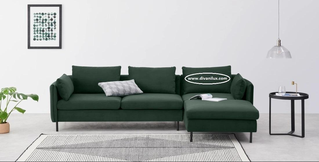 Ъглов диван с мемори пяна по поръчка 1045