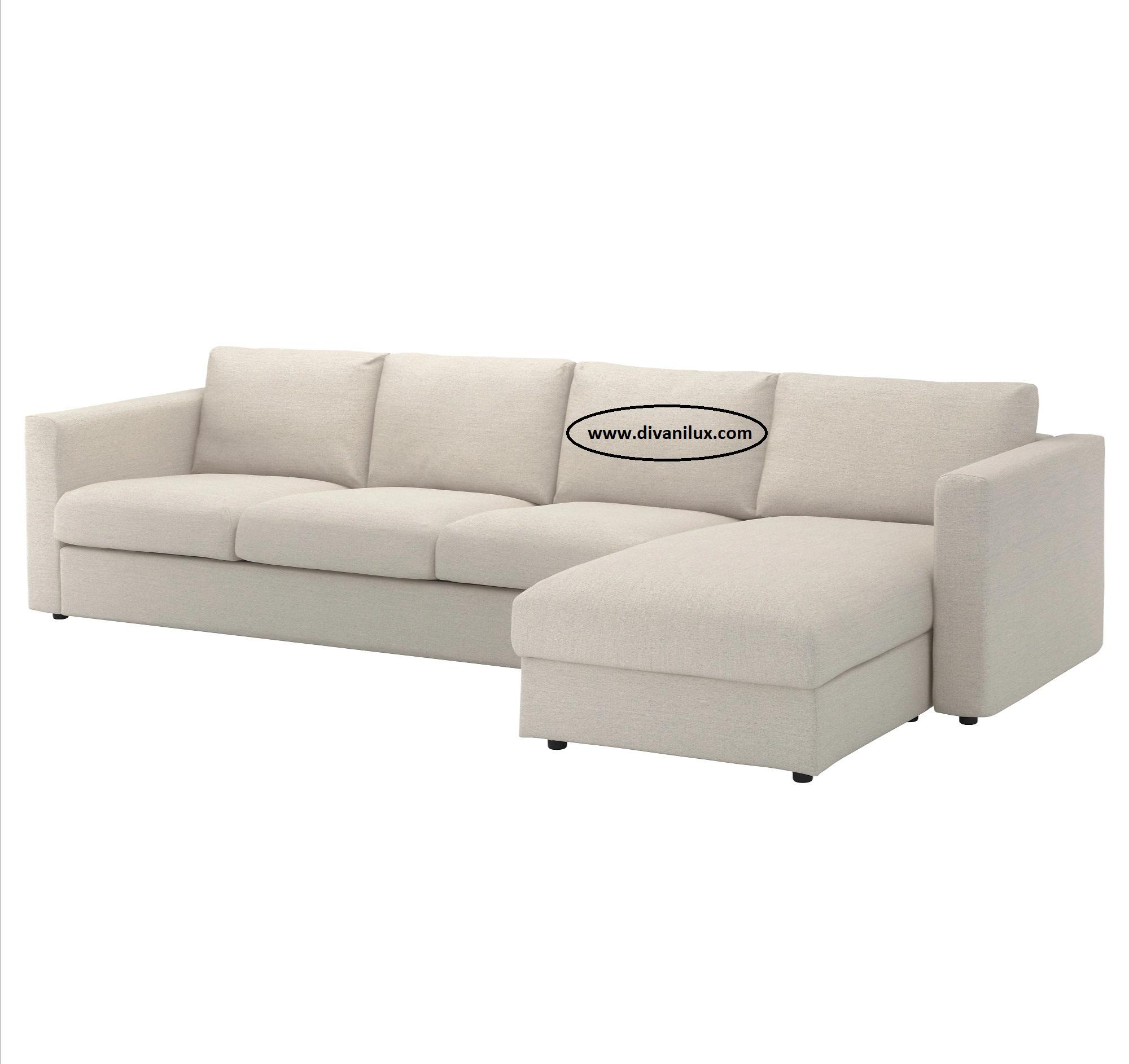 Ъглов диван с гъши пух по поръчка 1048