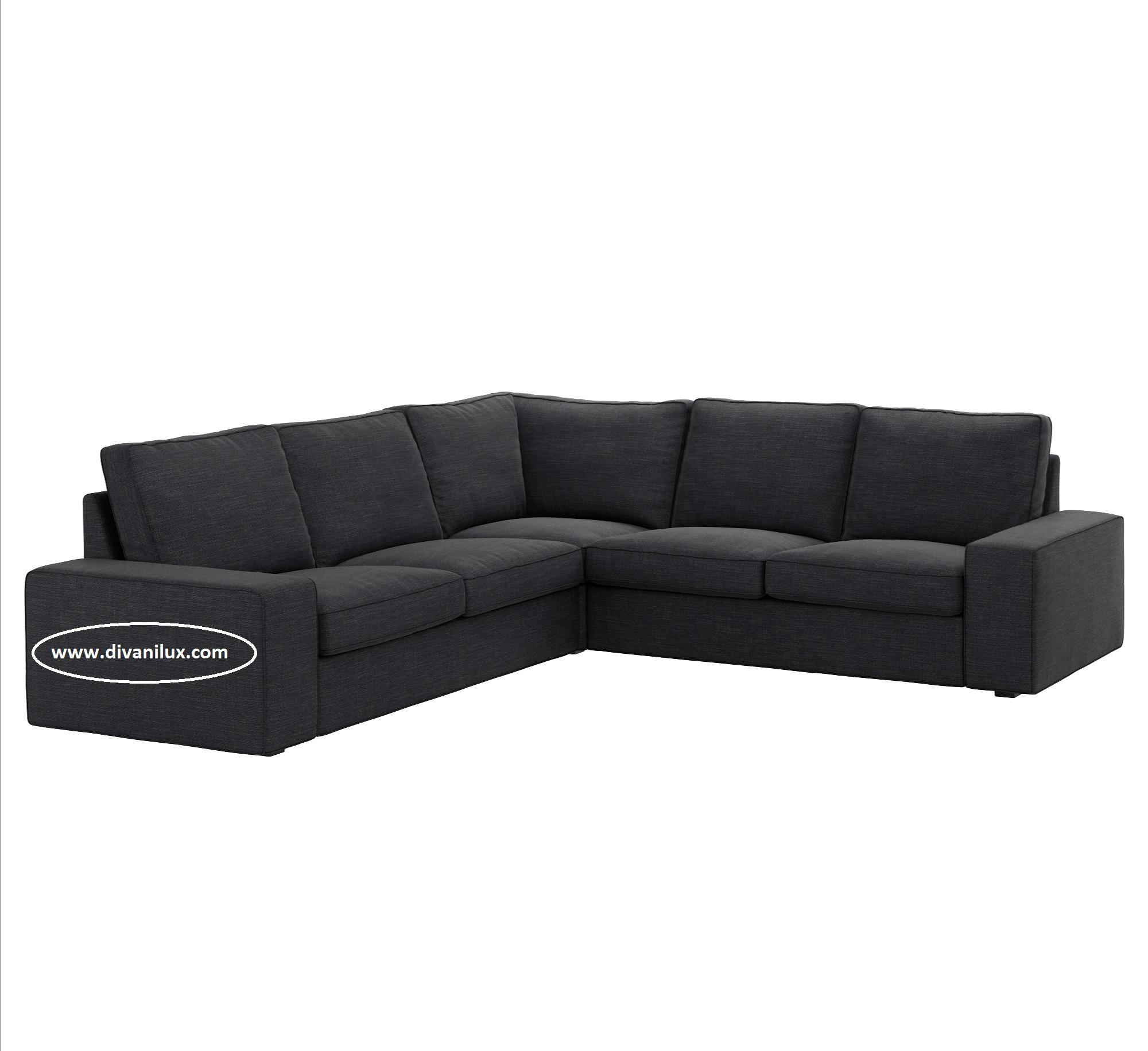 Сив ъглов диван с миеща се дамаска 1049