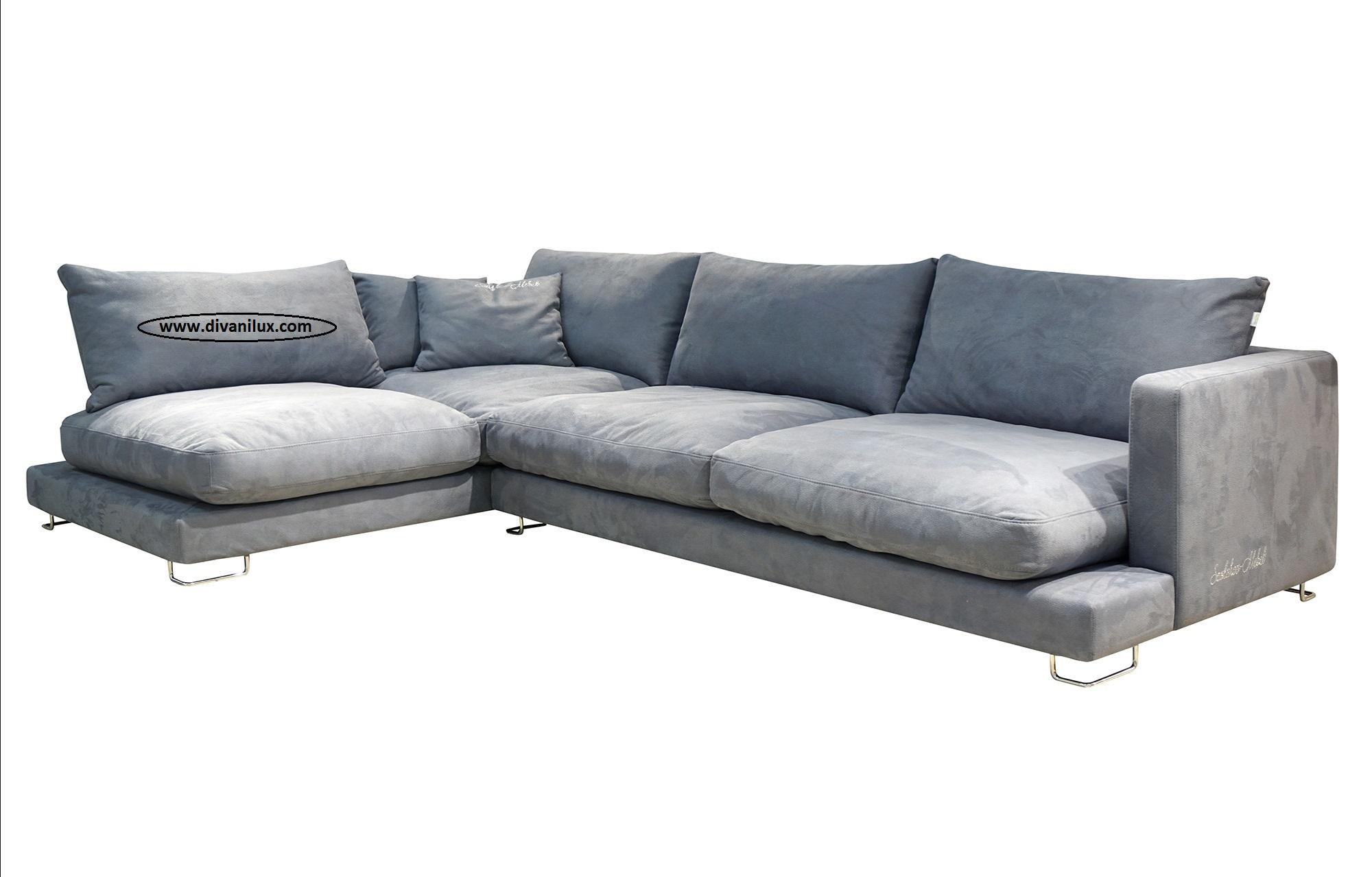 Ъглов диван с гъши пух по поръчка 1054