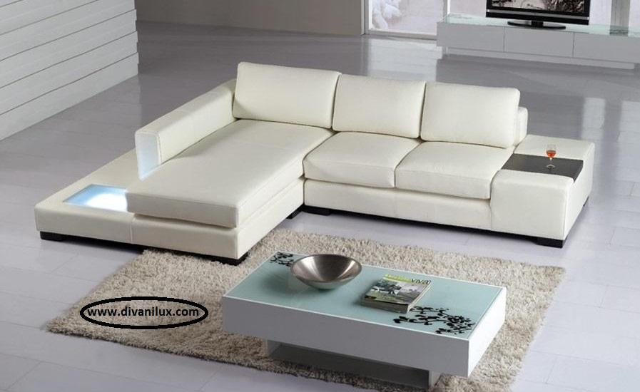 Ъглов диван с ЛЕД осветление 1056
